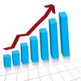 Business profit growth graph c. Vector - Business profit growth graph chart with reflection Stock Photo