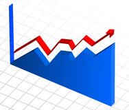 Business profit growth graph chart Stock Photography