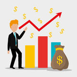Business profit growth up Royalty Free Stock Image
