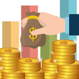 Business profit growth up Stock Image