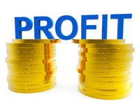 Business Profit Indicates Financial Profitable And Cash. Business Profit Representing Currency Earning And Trading Royalty Free Stock Image