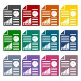 Business profit report icons set. Vector icon Stock Photography