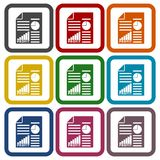 Business profit report icons set. Vector icon Royalty Free Stock Images