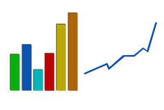 Business Profit Statistic Graph Royalty Free Stock Photo
