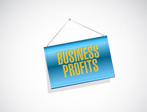 Business profits banner sign concept Stock Photos