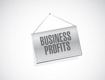 Business profits banner sign concept Royalty Free Stock Image
