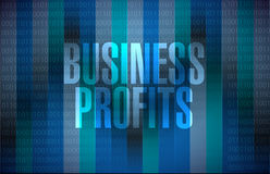 Business profits binary sign concept Royalty Free Stock Photos