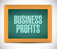 Business profits board sign concept. Illustration design graphic icon Stock Photo