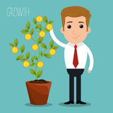Business profits growth Royalty Free Stock Photography