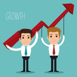 Business profits growth Royalty Free Stock Images