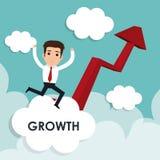 Business profits growth Royalty Free Stock Photo