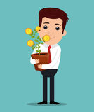 Business profits growth Royalty Free Stock Image