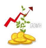 Business profits growth Stock Photos