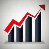 Business profits growth Stock Photography