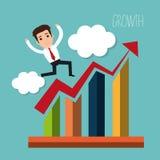 Business profits growth Stock Photo