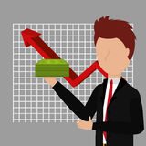 Business profits growth up Royalty Free Stock Photo