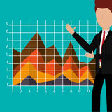 Business profits growth up Royalty Free Stock Image