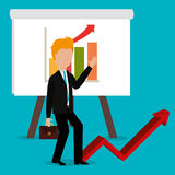 Business profits growth up Stock Photography
