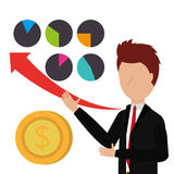 Business profits growth up Royalty Free Stock Images
