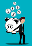 Business profits growth up Stock Photo