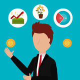 Business profits growth up Stock Images