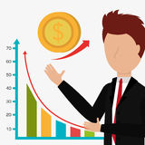 Business profits growth up Stock Image