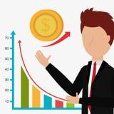 Business profits growth up Stock Image