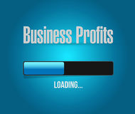 Business profits loading bar sign concept. Illustration design graphic icon Royalty Free Stock Image