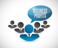 Business profits teamwork sign concept Stock Photos
