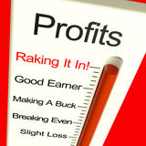 Business Profits Very High Showing Rising Sales Royalty Free Stock Image