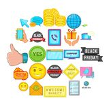 Business program icons set, cartoon style. Business program icons set. Cartoon set of 25 business program vector icons for web isolated on white background Royalty Free Stock Images