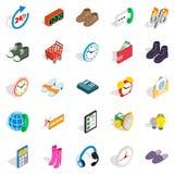 Business program icons set, isometric style. Business program icons set. Isometric set of 25 business program vector icons for web isolated on white background Stock Image