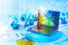 Business progress chart Royalty Free Stock Image