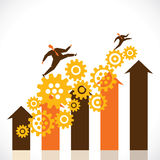 Business progress graph Stock Photos