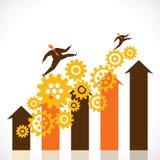 Business progress graph Stock Photos