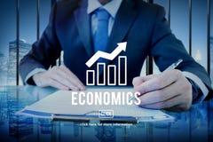 Business progress report graph concept royalty free stock photos