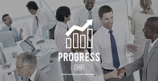 Business Progress Report Graph Concept Stock Photos
