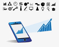 Business progress  Stock Photo