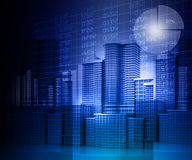 Business progress of skyline citys. 3d render of Business progress of skyline citys Royalty Free Stock Photo