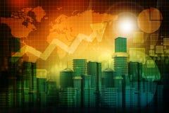 Business progress of skyline citys. 3d render of Business progress of skyline citys Stock Photography