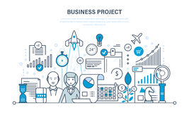 Business project, control, time management, marketing, statistics, analysis, data control. Business project, control and time management, marketing, statistics Stock Images