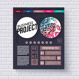 Business project infographic design template Stock Photography