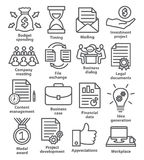 Business project planning icons in line style Royalty Free Stock Photo