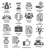 Business project planning icons Royalty Free Stock Photography