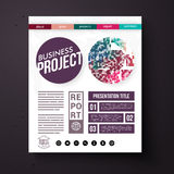 Business Project Report Presentation Layout Stock Photography