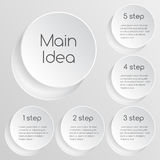 Business project template with text areas Royalty Free Stock Photos