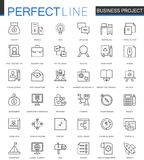Business project thin line web icons set. Strategy management Outline stroke icon design. Business project thin line web icons set. Strategy management Outline stock illustration