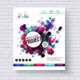 Business Project Web Template on White Brick Wall Royalty Free Stock Photo