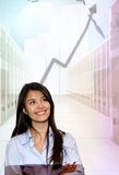 Business projection Royalty Free Stock Photo