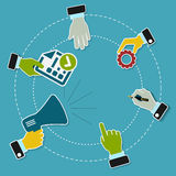 Business promotion. Concept illustration with business icons Stock Photo